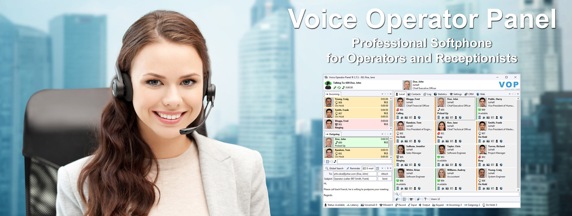 voice operator panel professional sip softphone for operators voice operator panel professional softphone for operators and receptionists